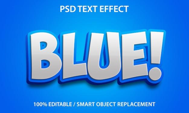 Edytowalny efekt tekstowy niebieski