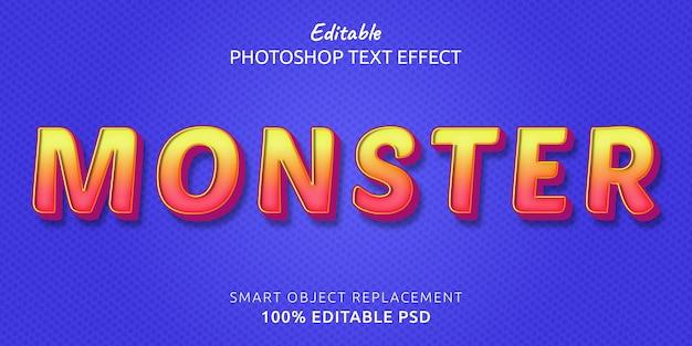 Edytowalny efekt tekstowy potwora