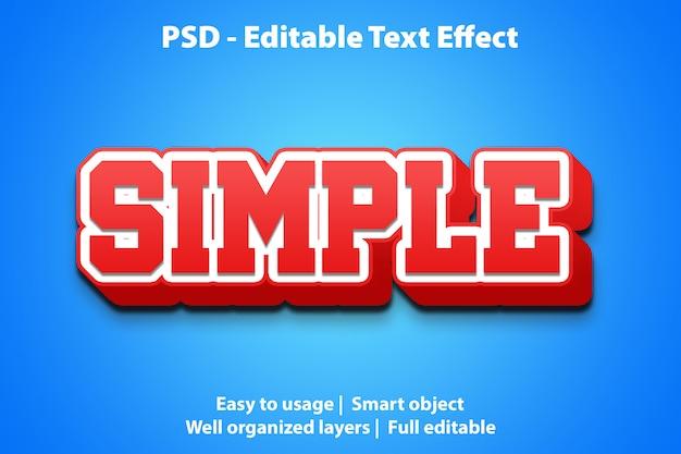 Edytowalny efekt tekstowy prosty