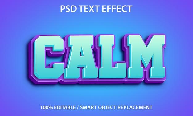 Edytowalny efekt tekstowy spokój