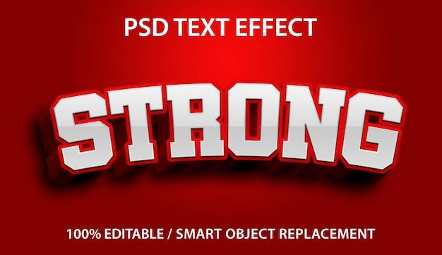 Edytowalny efekt tekstowy strong premium