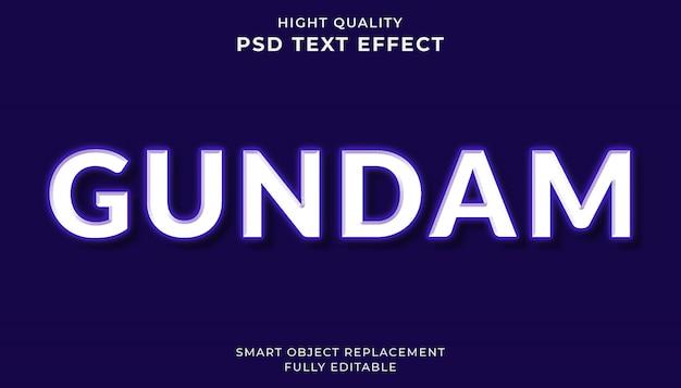 Edytowalny efekt tekstowy. styl tekstu gundam