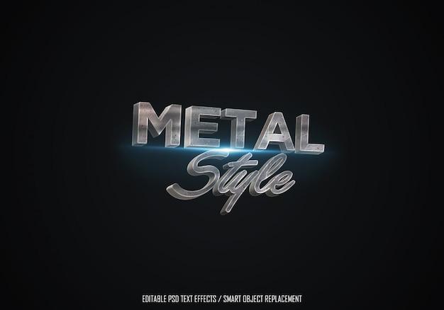 Edytowalny efekt tekstowy w stylu metalowym