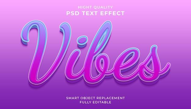 Edytowalny efekt tekstowy, wibracje