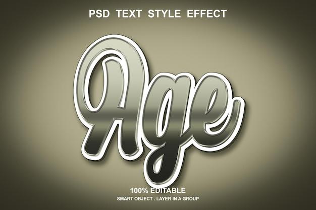 Edytowalny efekt tekstowy wieku