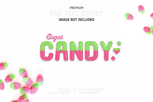 Edytowalny szablon efektu tekstu cukierków cukrowych