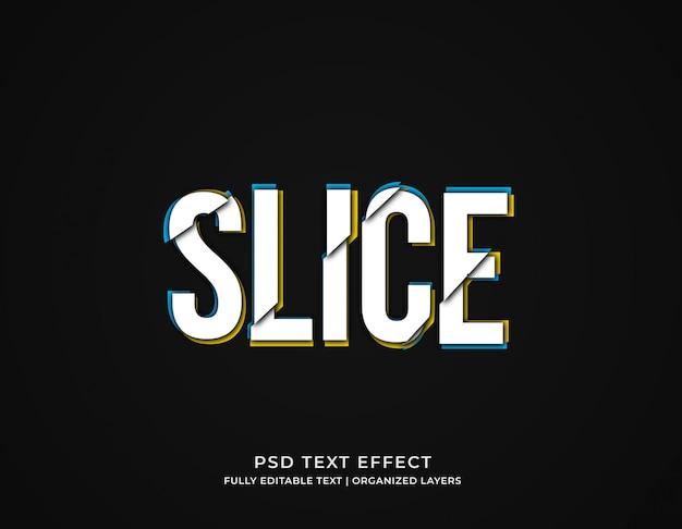 Edytowalny szablon efektu tekstu w plasterkach usterki