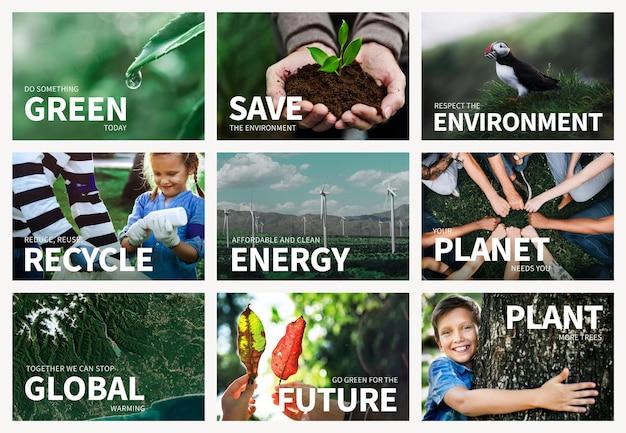 Edytowalny szablon psd środowiska