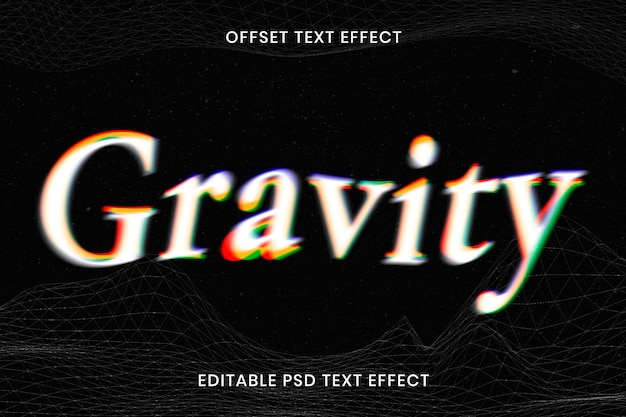Edytowalny szablon psd z efektem tekstowym