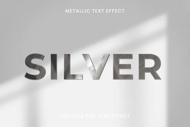 Edytowalny szablon psd z metalicznym efektem tekstowym