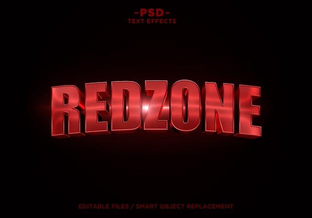 Edytowalny tekst 3d redzone cinematic effect