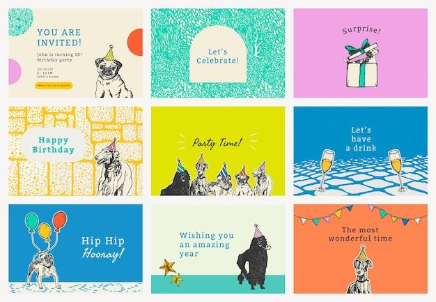 Edytowalny zestaw szablonów banerów imprezowych psd, zremiksowany z dzieł autorstwa moriza junga