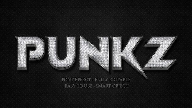 Efekt 3d font metalowa stalowa metalowa