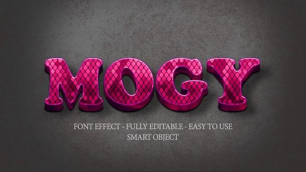 Efekt 3d fontowa fioletowa wążowa skóra
