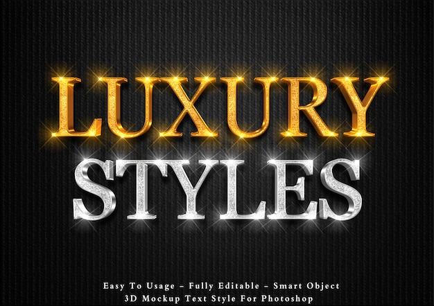 Efekt 3d luksusowy styl tekstu