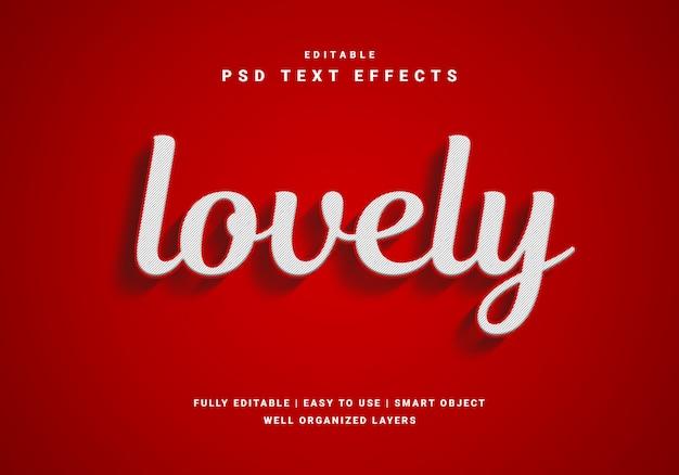 Efekt 3d piękny czerwony tekst