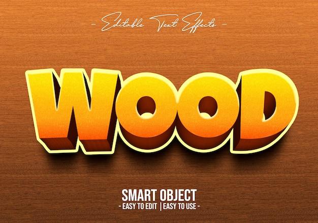 Efekt 3d-wood-text-style-style