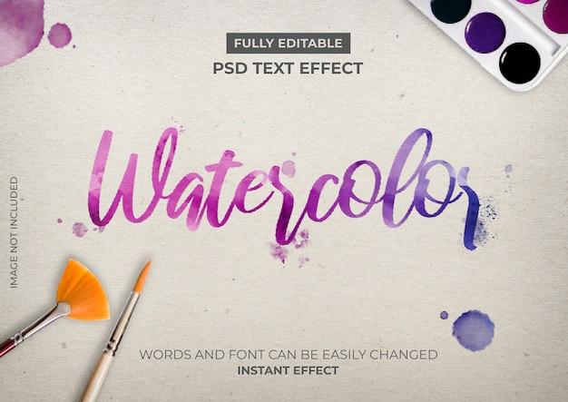 Efekt akwareli tekstu