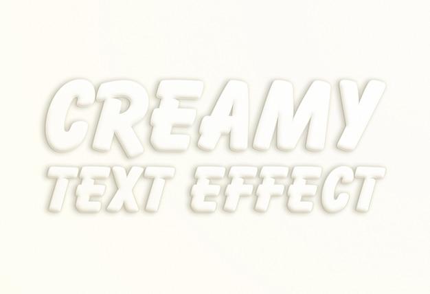 Efekt białego kremowego tekstu