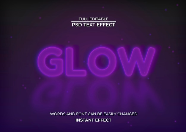 Efekt blasku tekstu