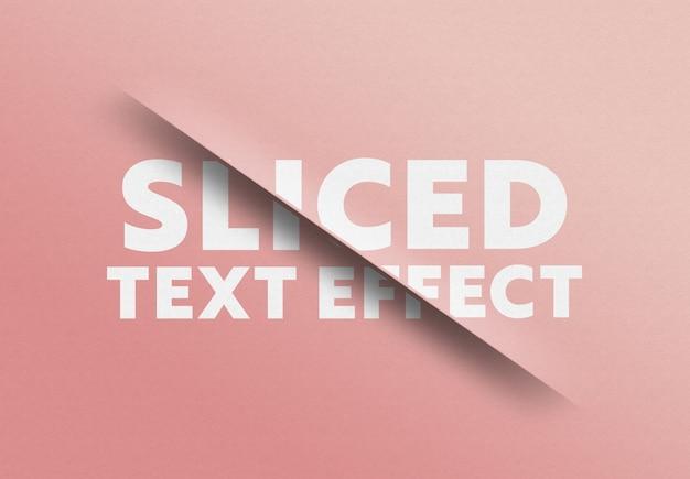Efekt cięcia tekstu w plasterkach