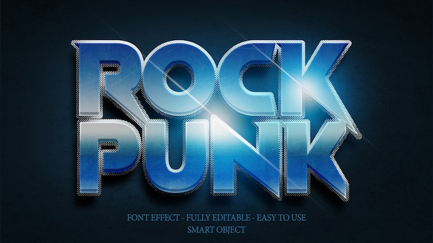 Efekt czcionki 3d rock n roll