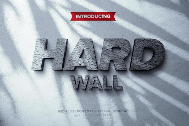 Efekt Czcionki Na ścianie Z Twardego Betonu Premium Psd