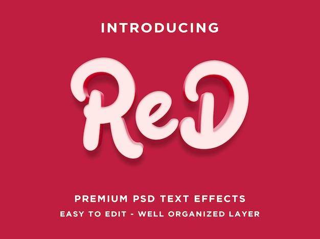 Efekt czerwonego tekstu
