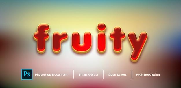 Efekt czerwonych tekstur owocowych