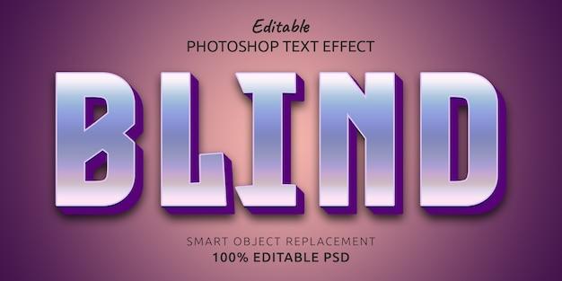 Efekt edytowalnego stylu tekstu niewidomego