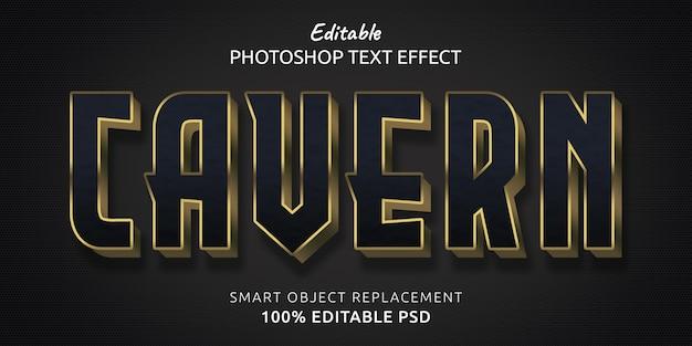Efekt edytowalnego stylu tekstu w jaskini