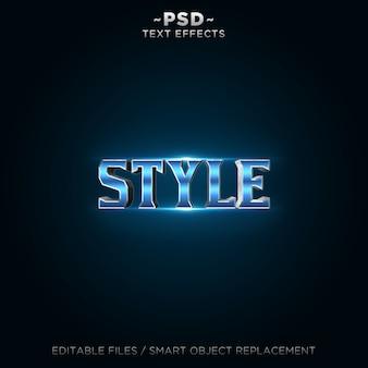Efekt edytowalnego tekstu 3d w niebieskim stylu 2