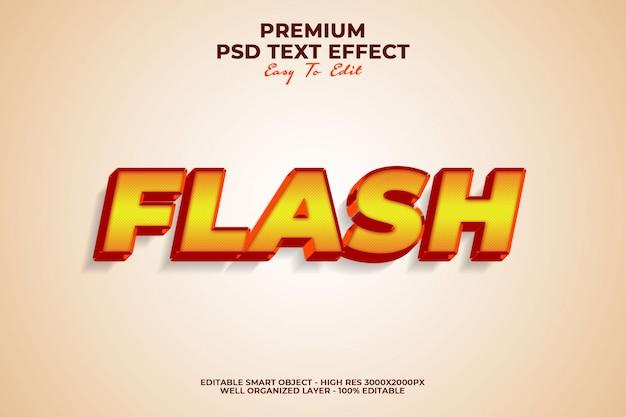 Efekt flash text premium psd
