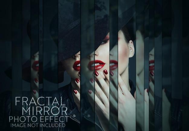 Efekt fotograficzny lustra fraktali