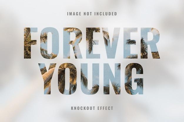 Efekt fotograficzny typografii knockout