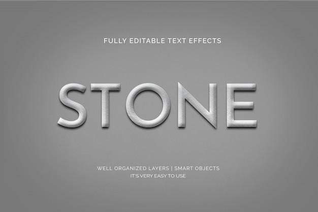 Efekt kamienia w stylu tekstu 3d