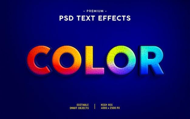 Efekt kolorowego tekstu