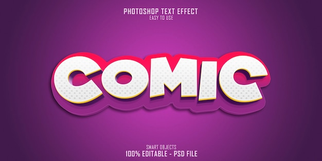 Efekt komiksowego stylu tekstu 3d