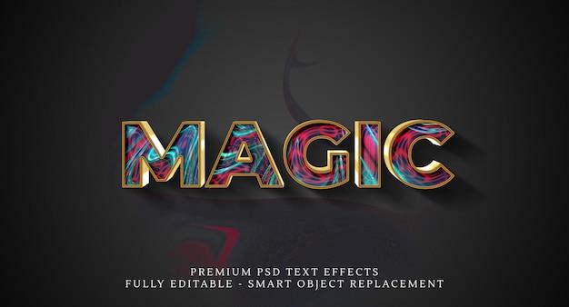 Efekt magicznego stylu tekstu psd, efekty tekstowe premium psd