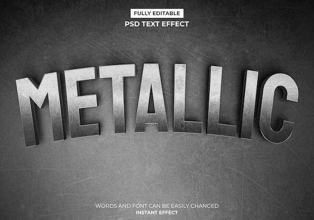 Efekt metalicznego tekstu