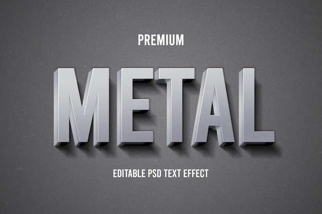 Efekt metalowego tekstu