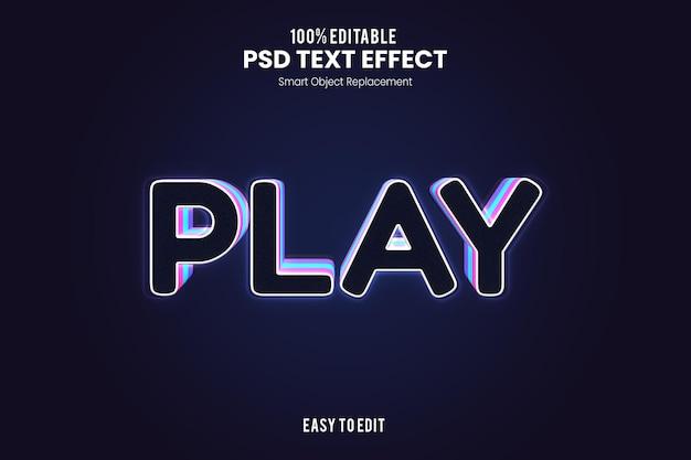 Efekt playtext