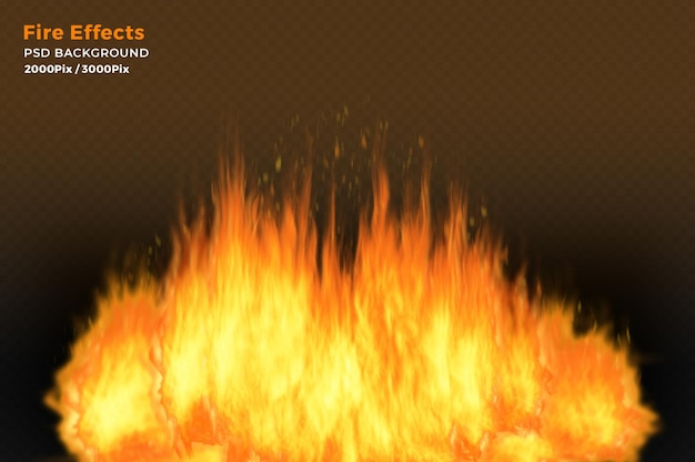 Efekt płomieni ognia