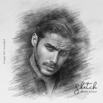 Efekt portretowy szkic ołówkiem