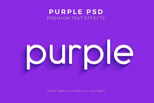 Efekt purpletext