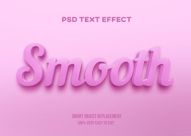 Efekt różowego pastelowego tekstu