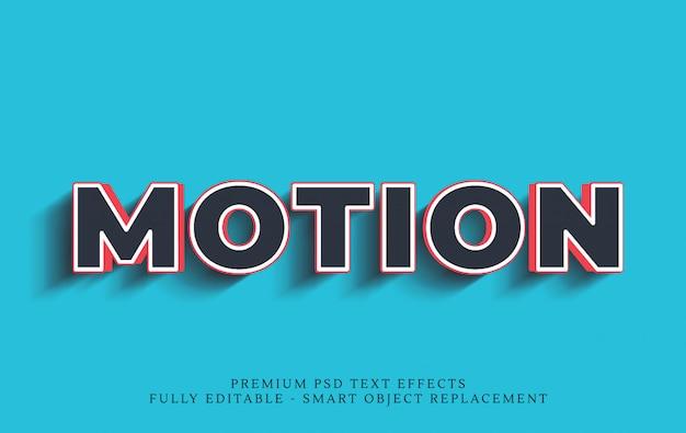Efekt ruchu w stylu tekstu 3d