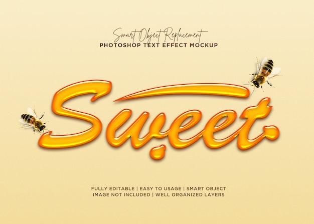 Efekt słodkiego tekstu w stylu 3d