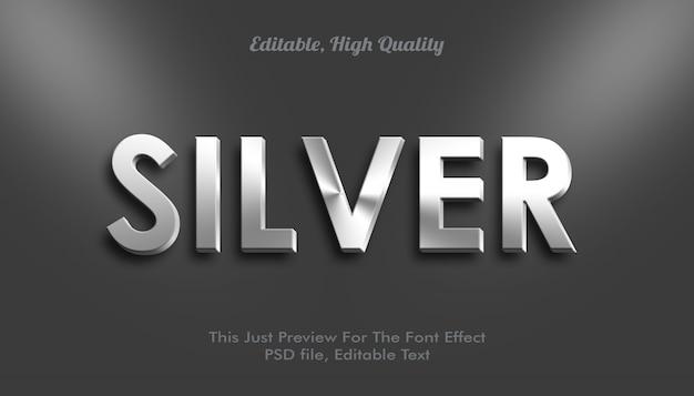 Efekt srebrnej czcionki