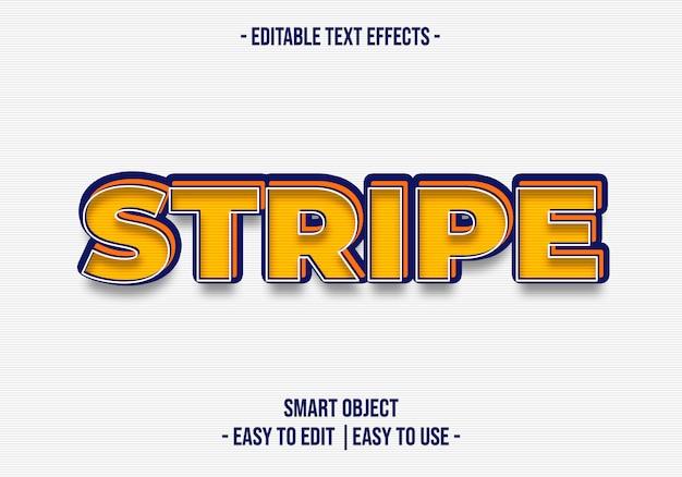 Efekt stripetext